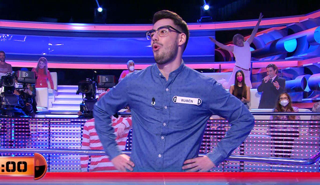 ¡En la última décima de segundo! Rubén marca un récord en las respuestas in extremis de '¡Ahora caigo!'