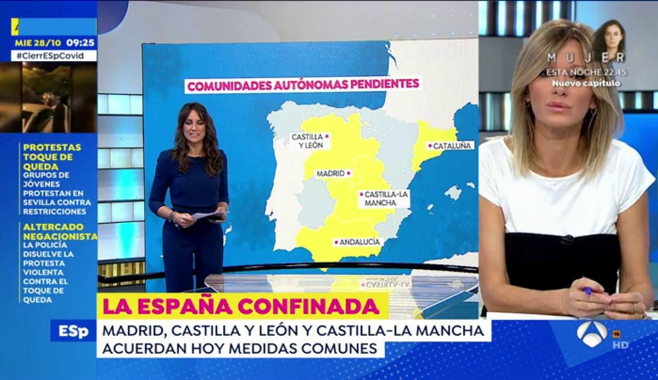 Ayuso duda si cerrar Madrid en el puente de Todos los Santos y Aguado pide el cierre para frenar el coronavirus