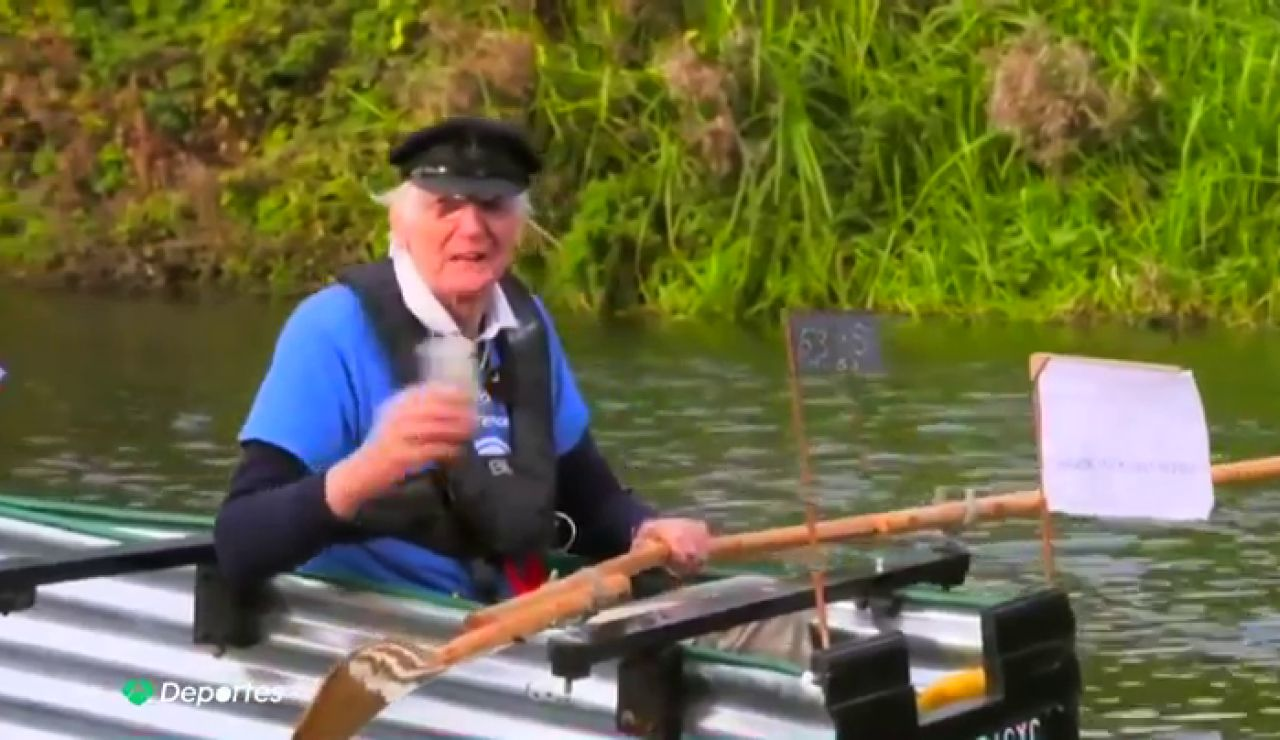 Mick Stanely, exmilitar de 80 años, construye un barco de hojalata para navegar 160 kilómetros