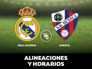Real Madrid - Huesca, alineaciones, horario y donde ver el partido