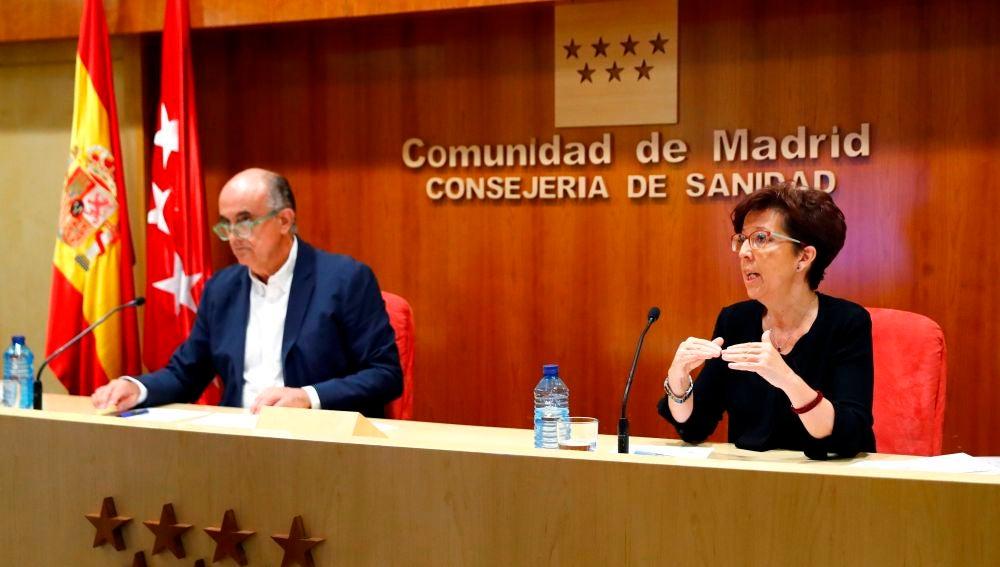 Elena Andradas y Antonio Zapatero, en rueda de prensa