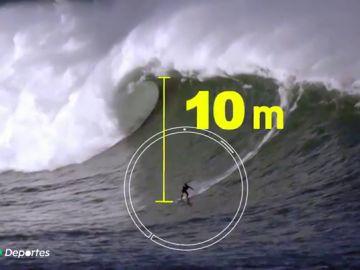 """Natxo González surfea la ola más grande de la historia de España: """"Llevaba más de diez años detrás de ella"""""""