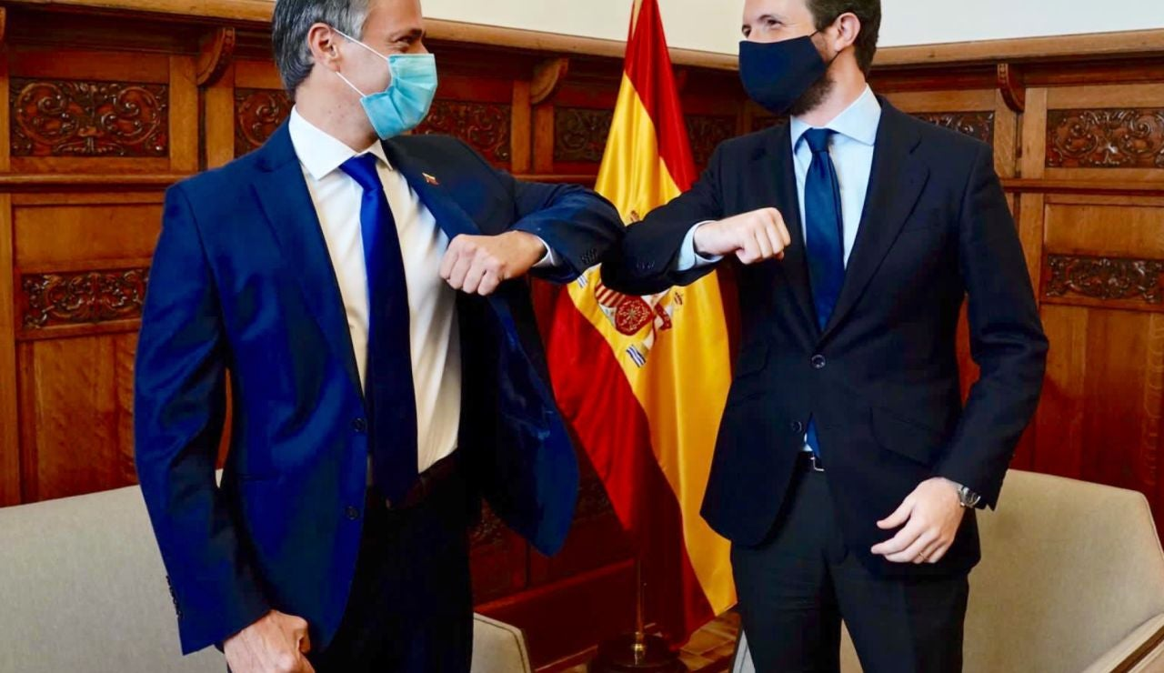 Reunión Pablo Casado Leopoldo López