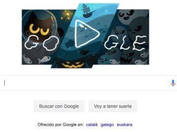 Halloween 2020: Google se disfraza de gato negro en su doodle con un divertido juego de fantasmas