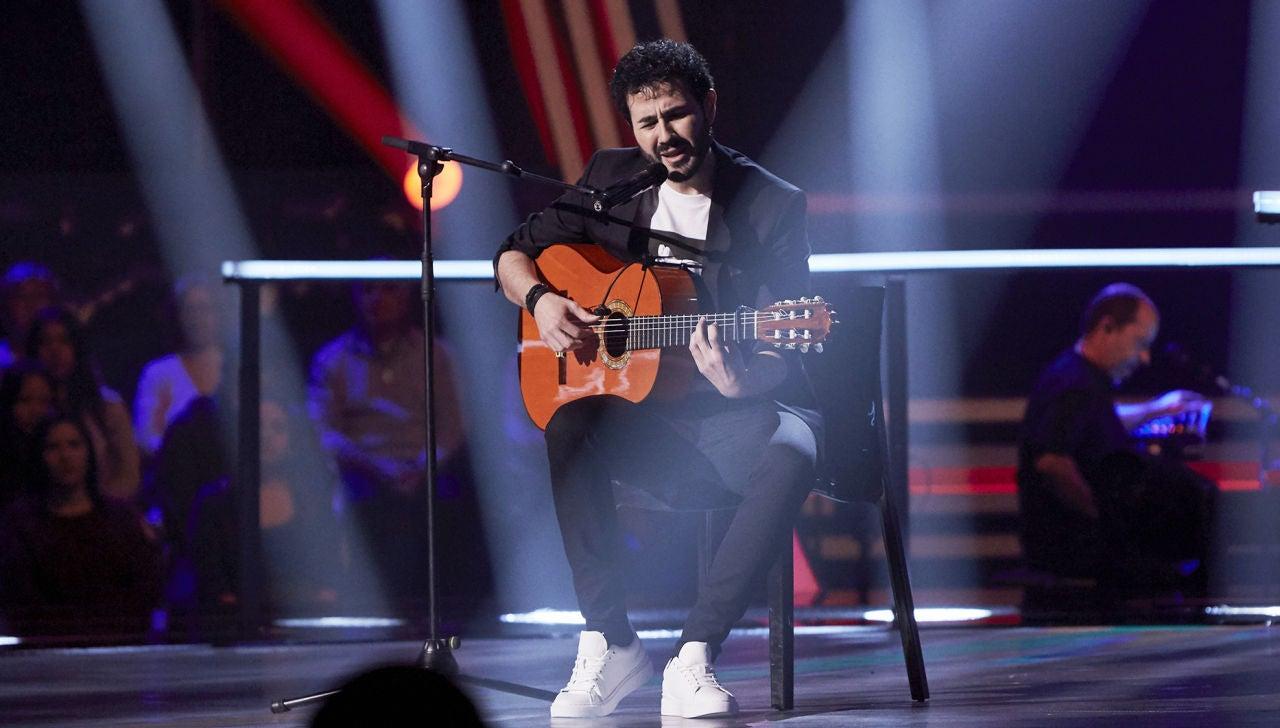 Juan José Alba canta 'No te pude retener' en los Asaltos de 'La Voz'