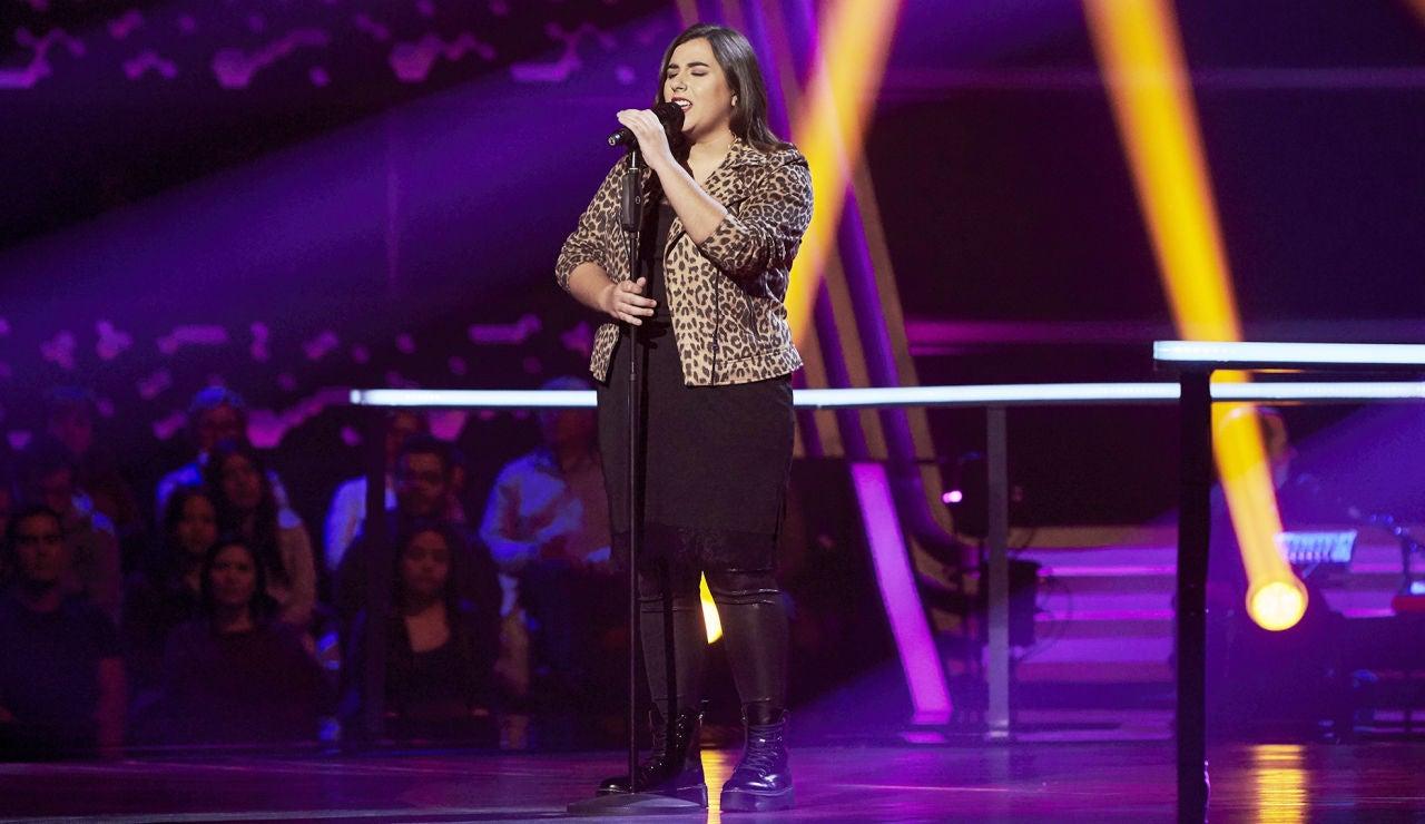 Sara Fuente canta 'Goodbyes' en los Asaltos de 'La Voz'