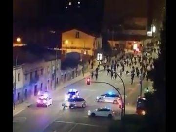 Disturbios en Burgos contra las restricciones por el coronavirus