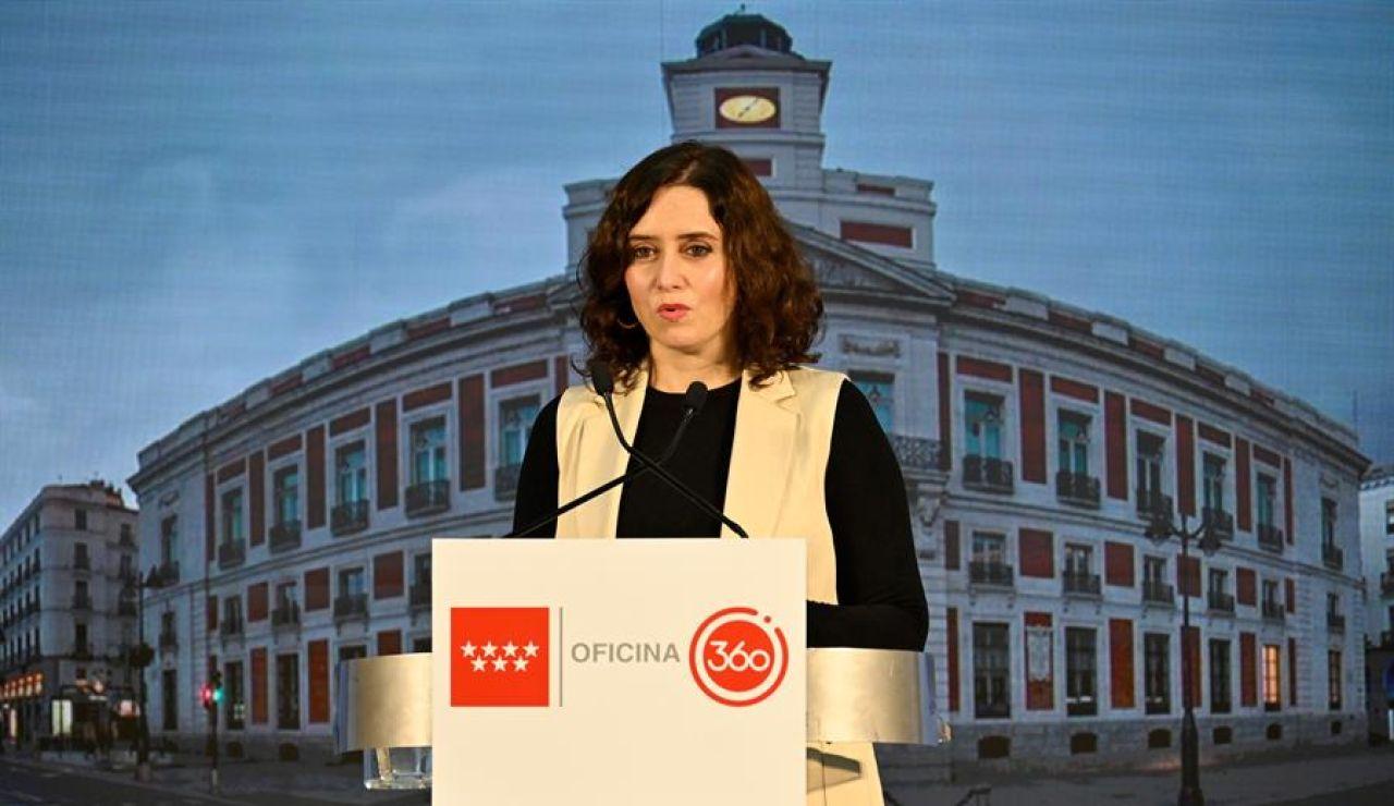 """Isabel Díaz Ayuso, tras el cierre de la Comunidad de Madrid por días: """"No ha habido ningún triunfo porque no hay ninguna guerra"""""""
