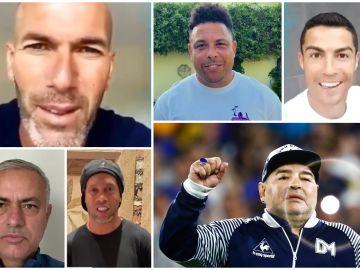 Deportistas felicitando a Maradona por su 60 cumpleaños