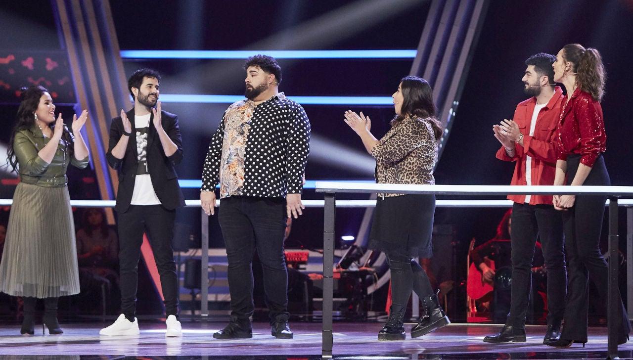 Alejandro Sanz y Tini eligen a Rafael Ruiz en los Asaltos de 'La Voz'