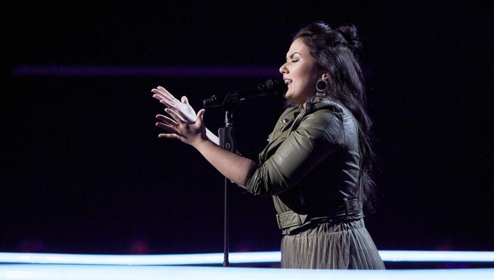 Araceli Campillos canta 'Algo especial en ti' en los Asaltos de 'La Voz'