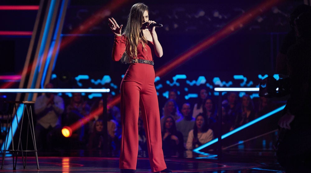Cristina Montoya canta 'Crazy in love' en los Asaltos de 'La Voz'