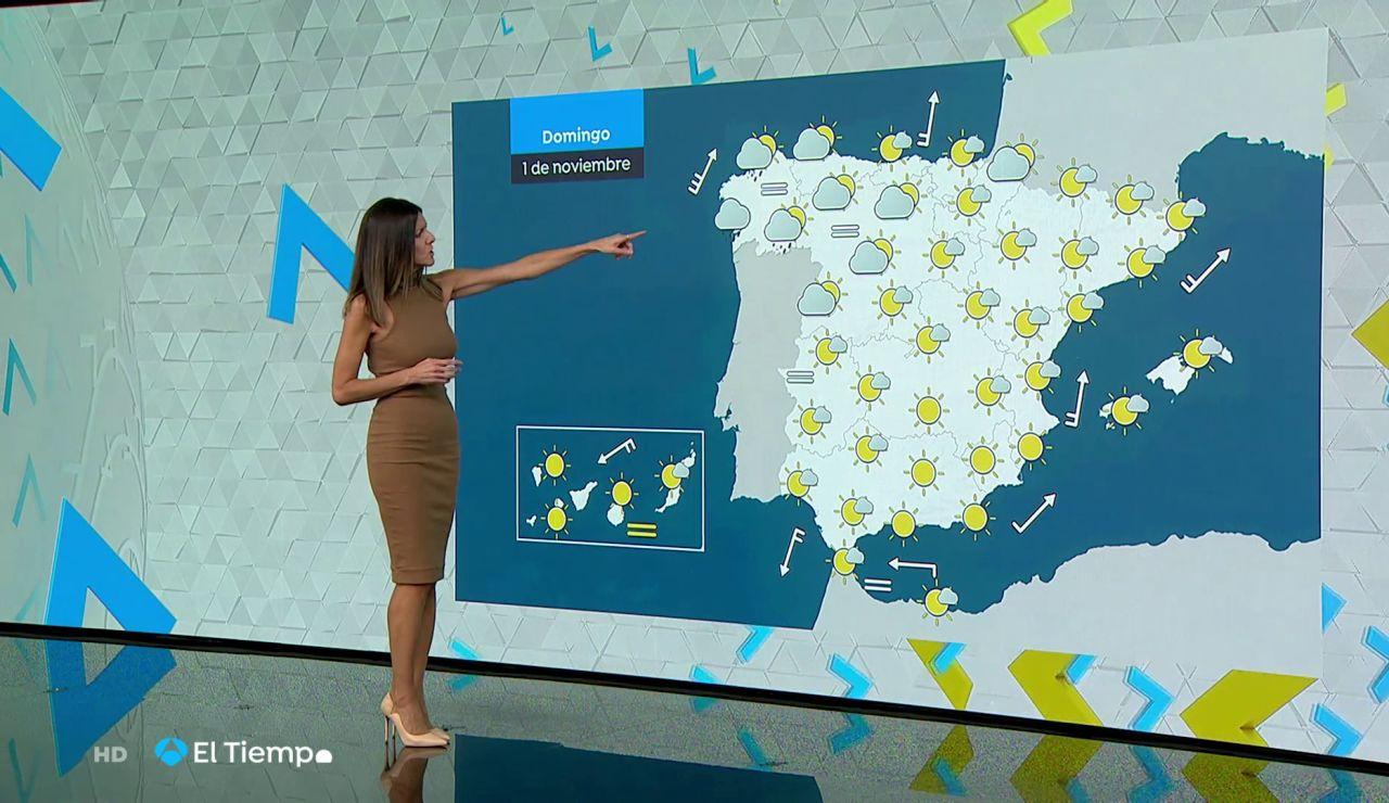 Tu Tiempo (31-10-20) Cielos poco nubosos y vientos flojos del sur en el País Vasco