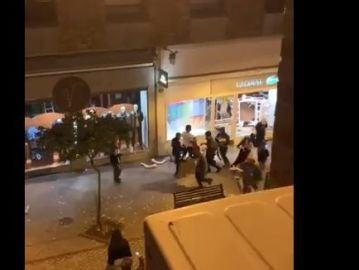 Disturbios en Logroño por las nuevas restricciones contra el coronavirus