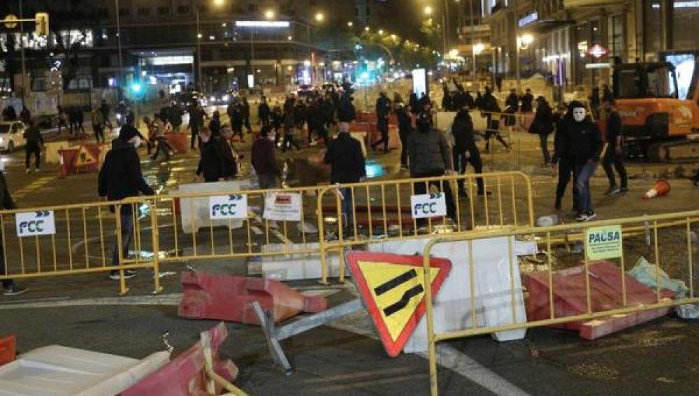 Disturbios en Madrid tras las protestas contra las restricciones por el coronavirus