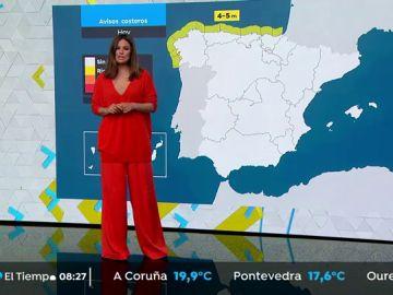 Lluvias en Galicia, Cantábrico y Castilla y León con descenso de las temperaturas