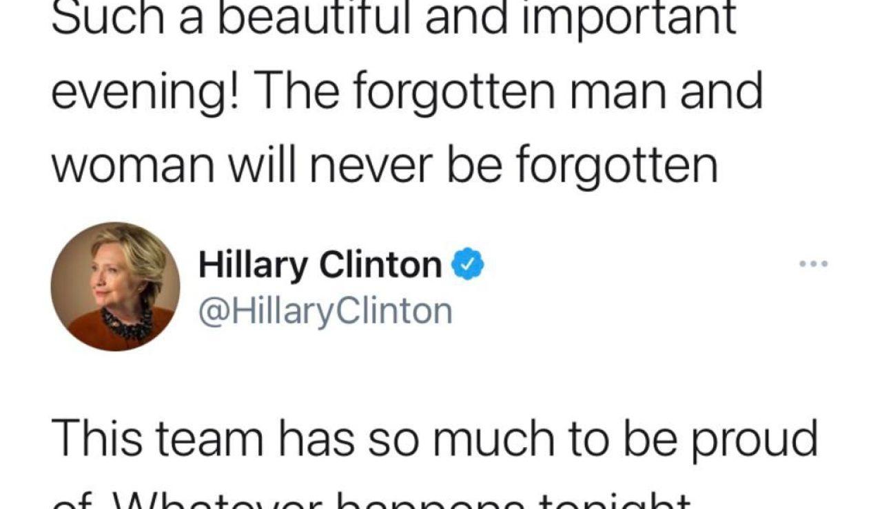 Así fue la victoria de Trump y la derrota de Hillary en 5 tuits