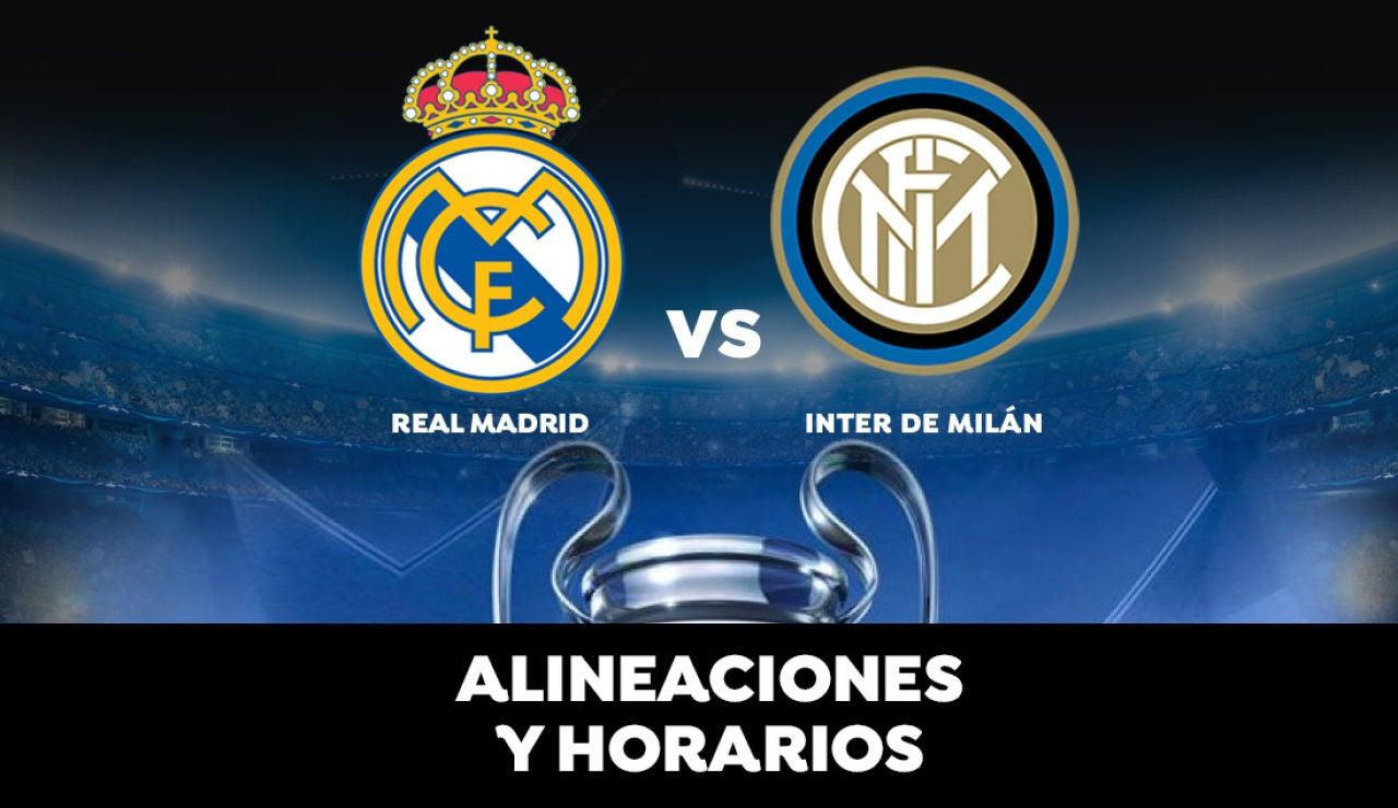 Real Madrid - Inter de Milán: Horario, alineaciones y dónde ver el partido