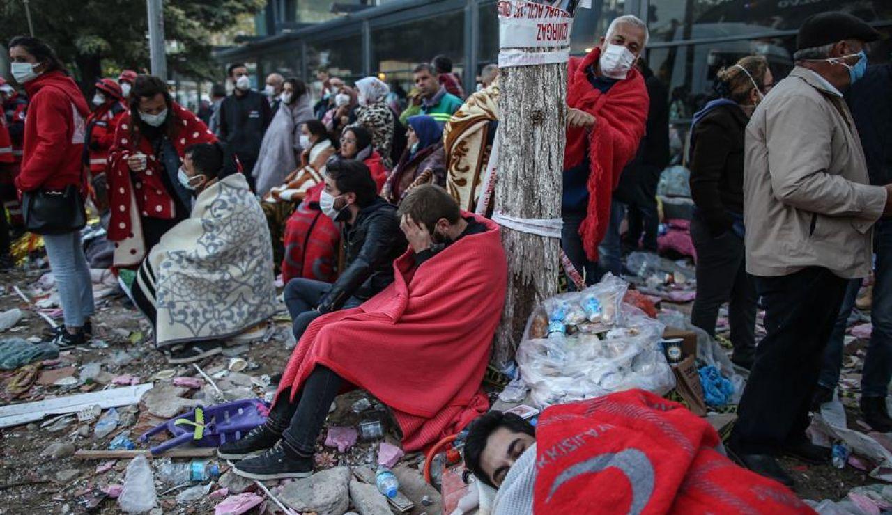 Víctimas del terremoto en Turquía.