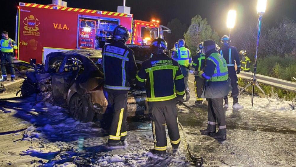 Dos muertos y 7 heridos en un accidente múltiple en la M-110 a la altura de la localidad madrileña de Daganzo de Arriba