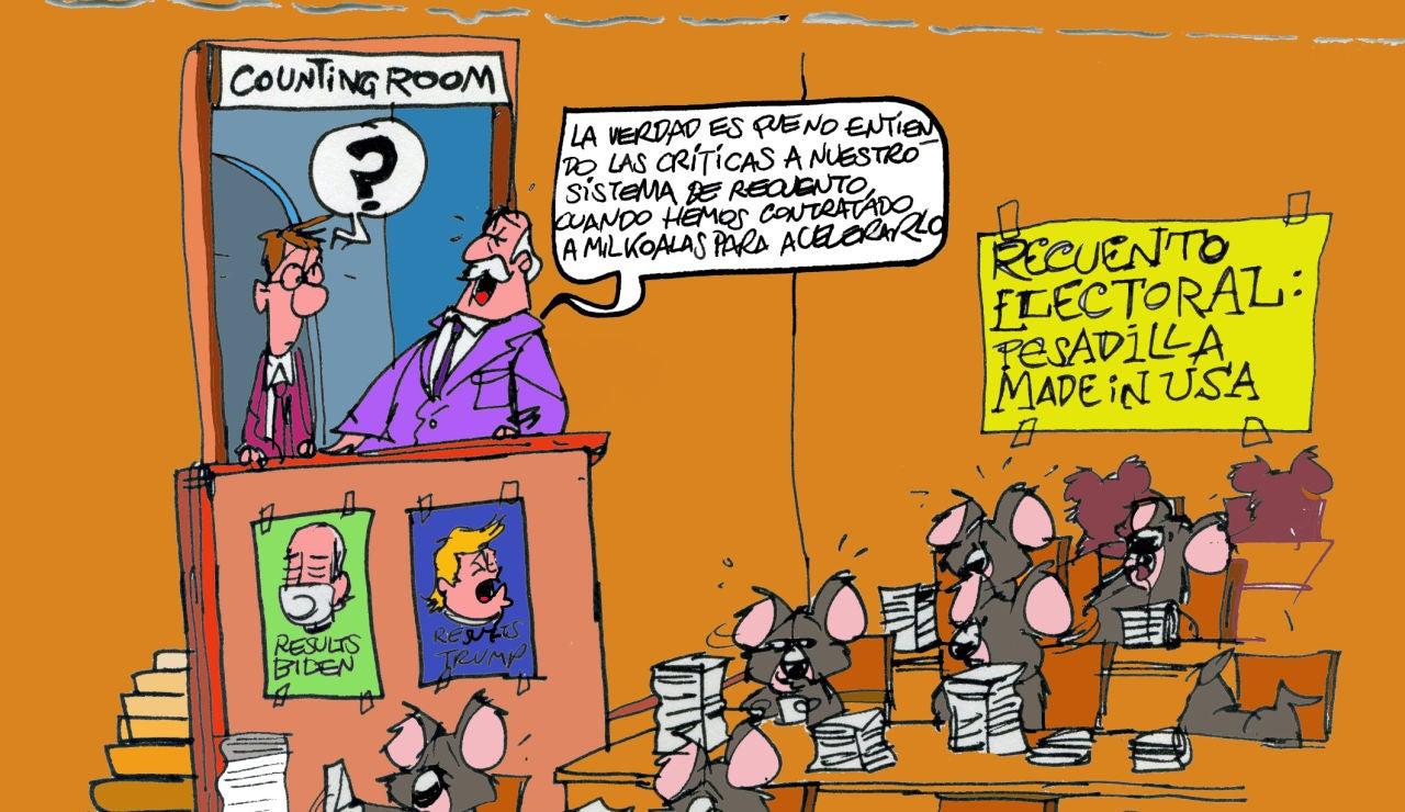 El recuento electoral, en la viñeta semanal