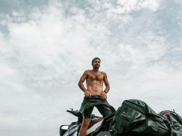 Lucas del Paso sobre su moto de agua