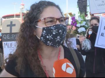 Manifestación comerciantes y hosteleros en Barcelona