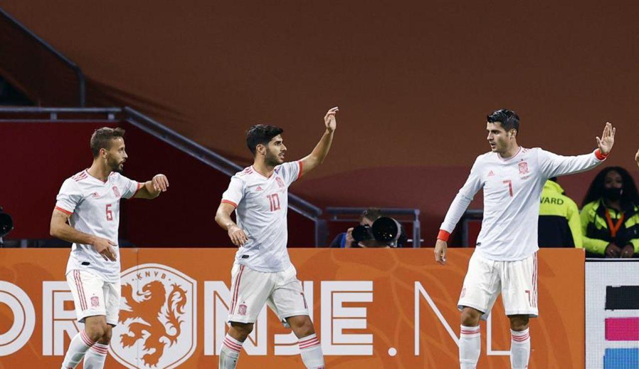 La selección española empata contra Países Bajos en Amsterdam antes de la Nations League