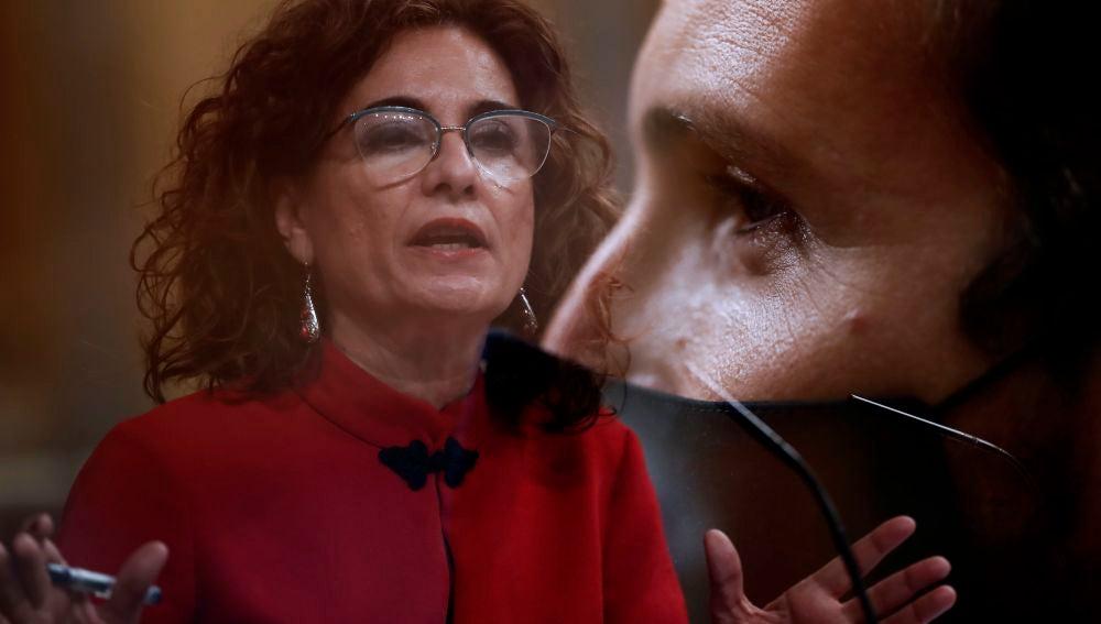 Pablo Casado y María Jesús Montero