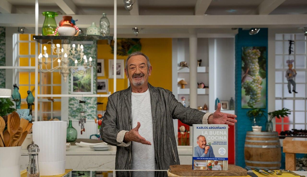 Karlos Arguiñano publica su nuevo libro 'La buena cocina'