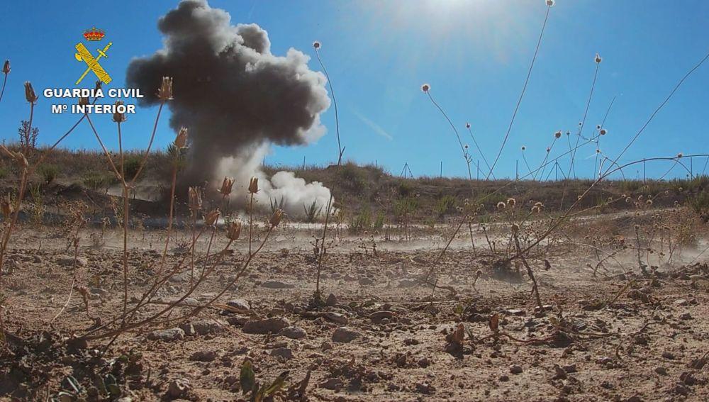 Explosión de dos proyectiles en Navarra