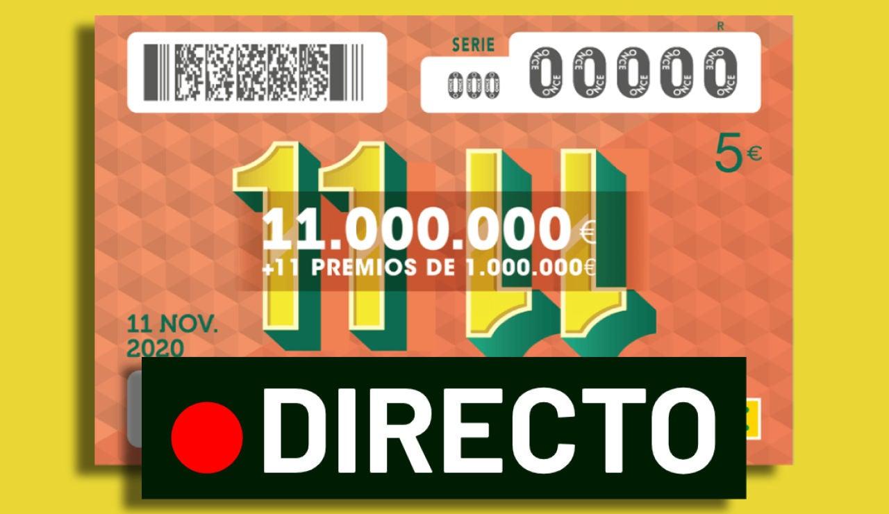 Sorteo 11 del 11 de la ONCE hoy miércoles 11 de noviembre: Comprobar número y resultado, en directo