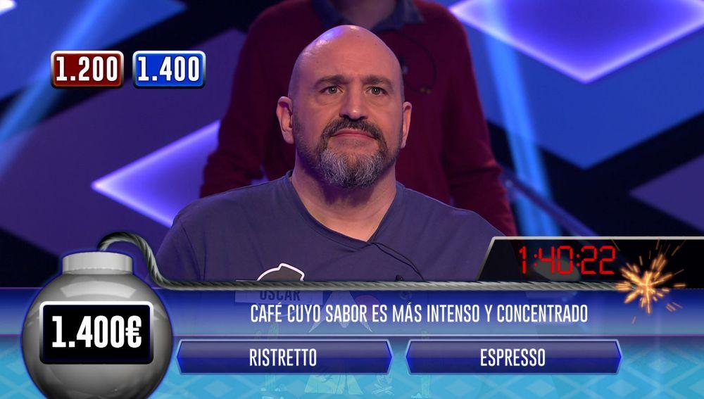 'Los dispersos', en apuros: juegan con 10 segundos menos y Óscar falla la segunda pregunta