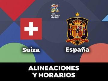 Suiza  - España: Horario, alineaciones y dónde ver el partido en directo   Nations League