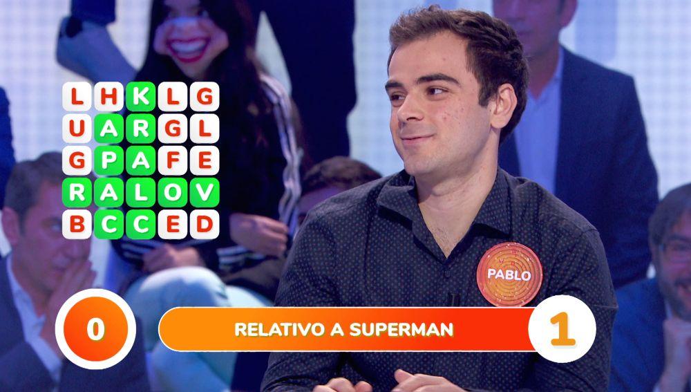 La inspiración le llega a Pablo in extremis para convertirse en el Superman de la 'Sopa de letras'