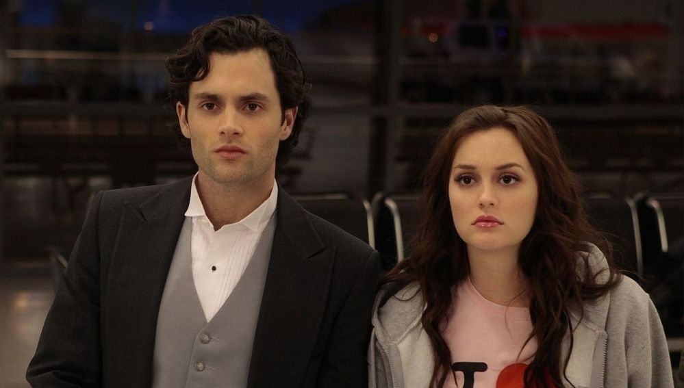 Penn Badgley y Leighton Meester como Dan y Blair en 'Gossip Girl'