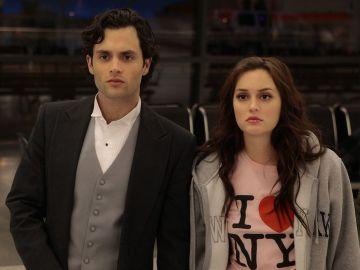 Penn Badgley y Leighton Meester como Dan y Blair en 'Gossip Girl'