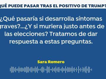 Podcast Sara Romero - positivo de Trump