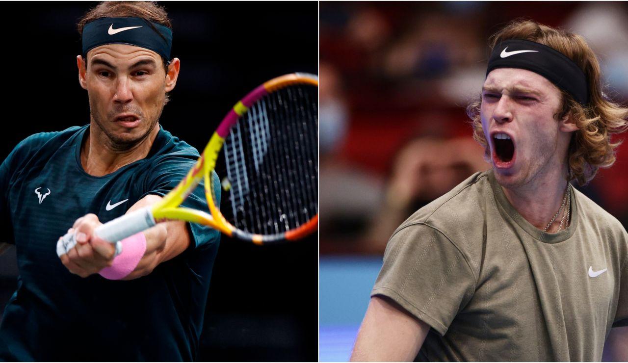 Rafa Nadal - Andrey Rublev: Horario y dónde ver el partido de la ATP Finals