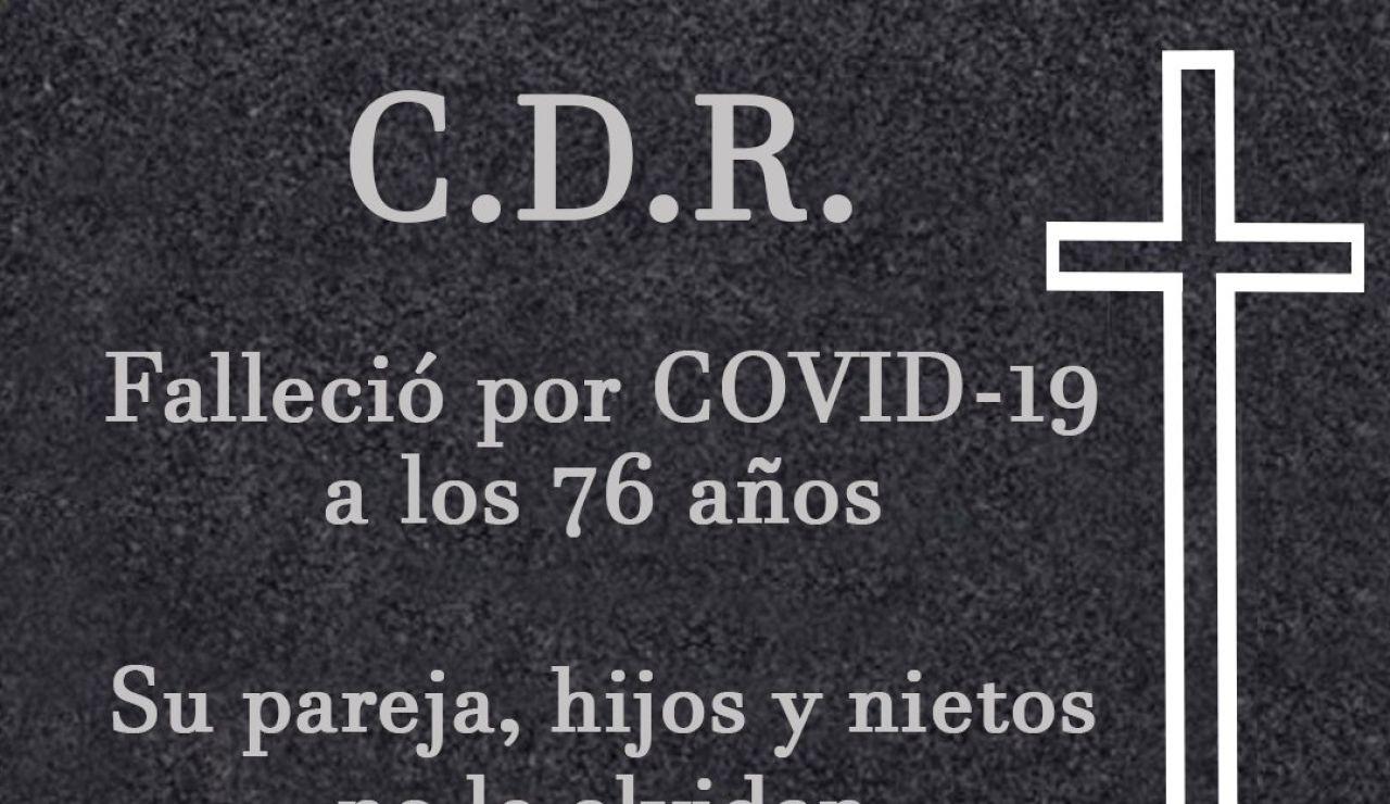 La dura campaña con una lápida de Coria del Río para frenar los contagios de coronavirus