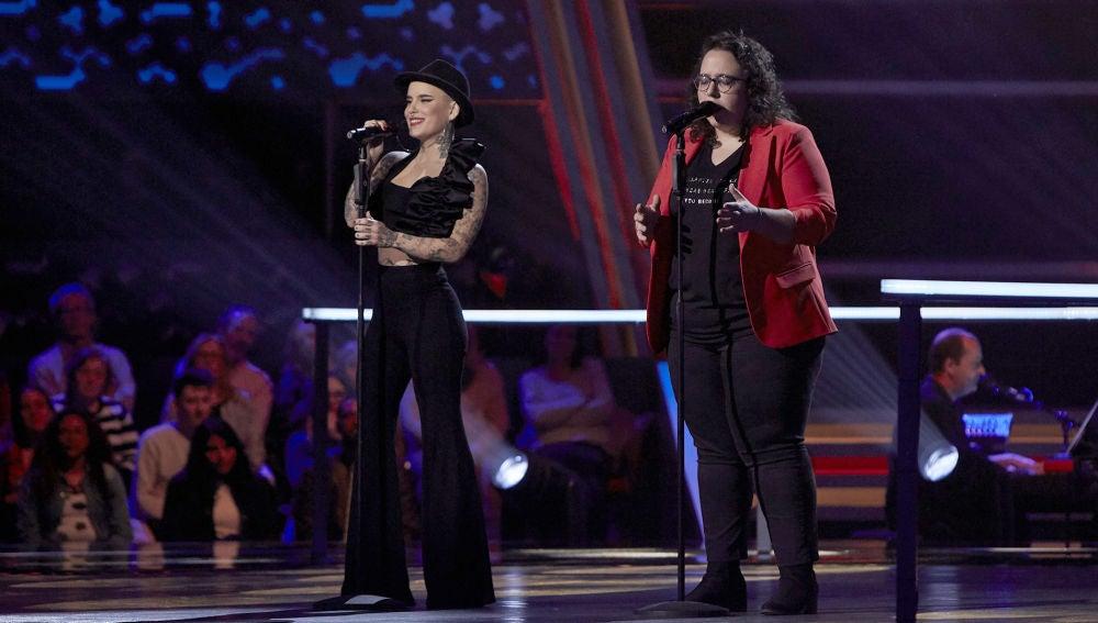 Marta Santos y Haizea Gómez cantan 'Quisiera ser' en la Batalla Final de 'La Voz'