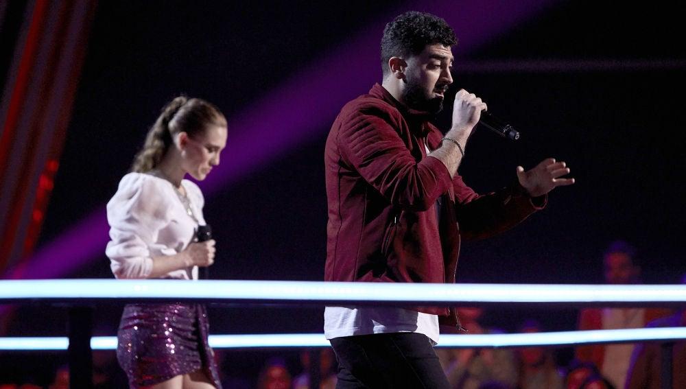 Gonzalo Alhambra y Johanna Polvillo cantan 'What you're made of' en la Batalla Final de 'La Voz'