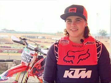 Daniela Guillén, el nuevo fenómeno del motocross español con tan solo 14 años