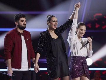 """Antonio Orozco y Mala Rodríguez eligen a Johanna Polvillo en la Batalla Final de 'La Voz': """"Excepcional"""""""