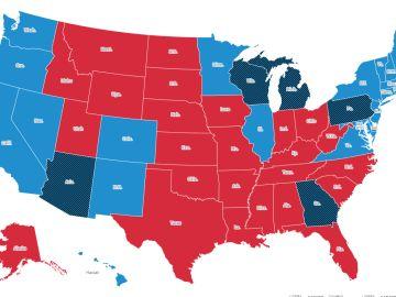 Biden gana en Georgia y Trump en Carolina del Norte en EEUU: así quedan finalmente todos los estados