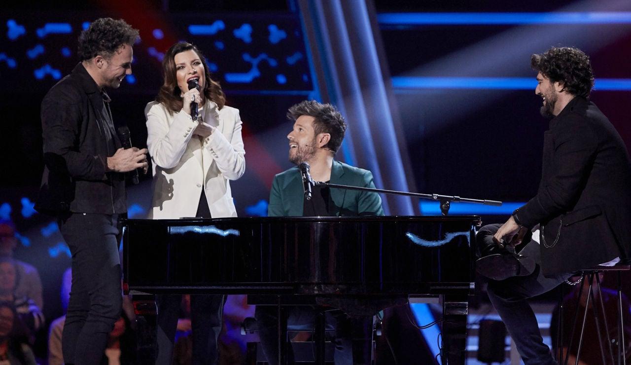 Laura Pausini une su voz a la de Antonio Soto para cantar una versión impresionante de 'Hijo de la luna' en la Batalla Final de 'La Voz'