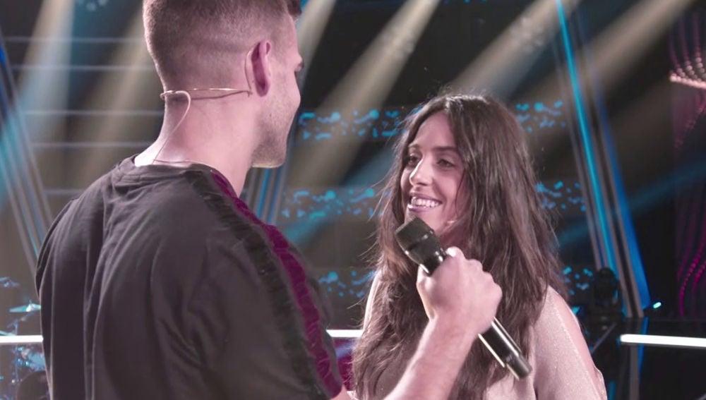 La gran química entre Adam Ainouz y Virginia Elósegui enamora a Alejandro Sanz en 'La Voz'