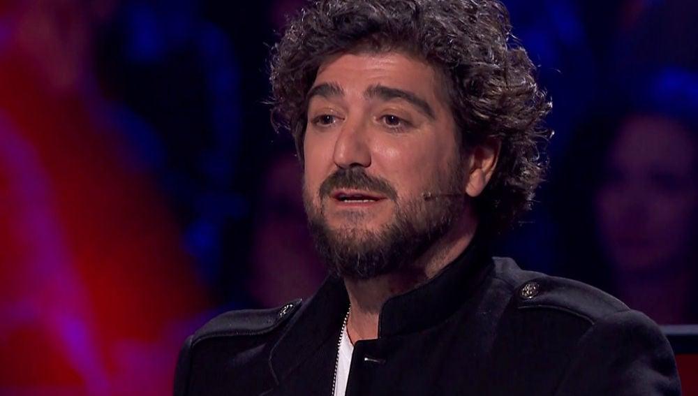 Antonio Orozco se acuerda de Lucie Silvas después de escuchar 'What you're made of' en 'La Voz'