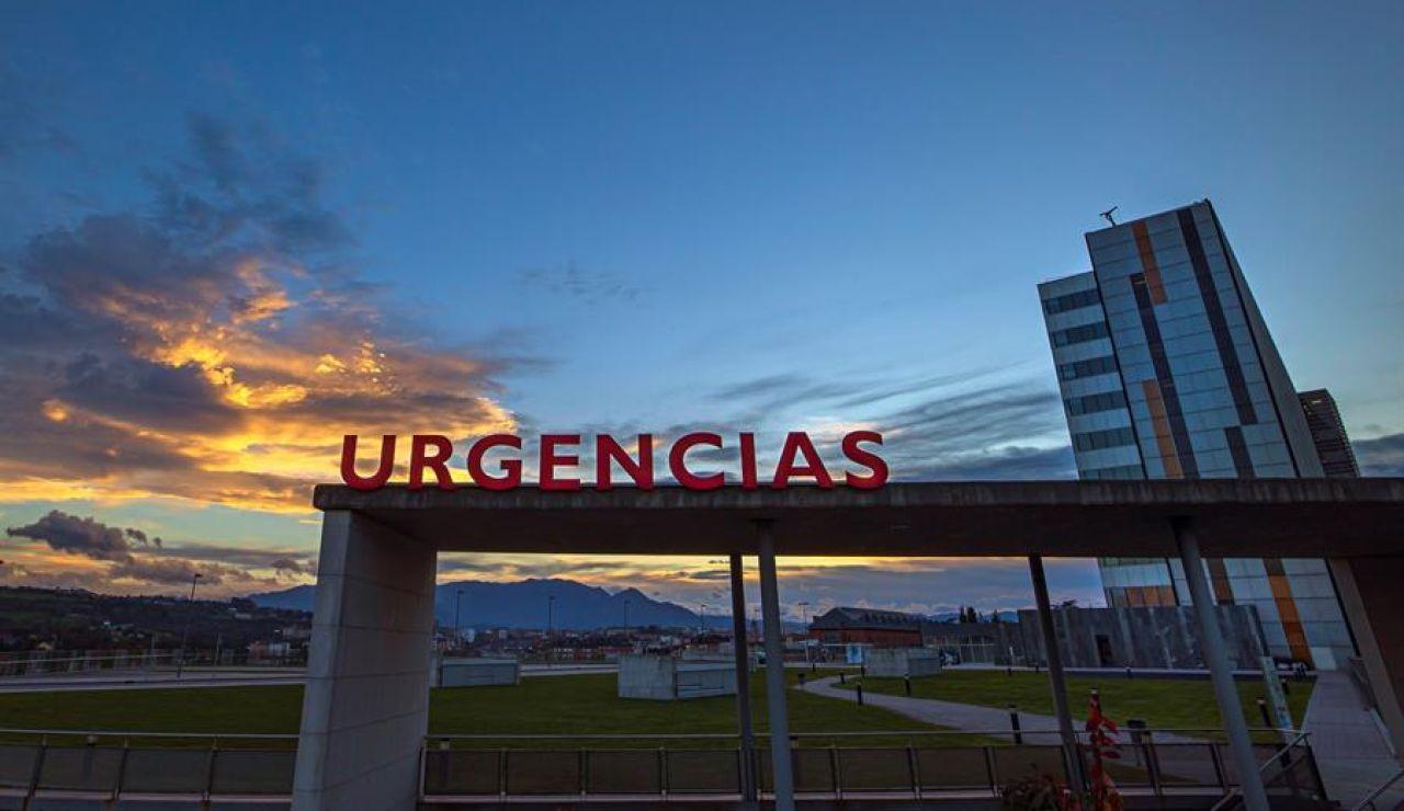 Entrada a urgencias del Hospital Universitario Central de Asturias (HUCA).