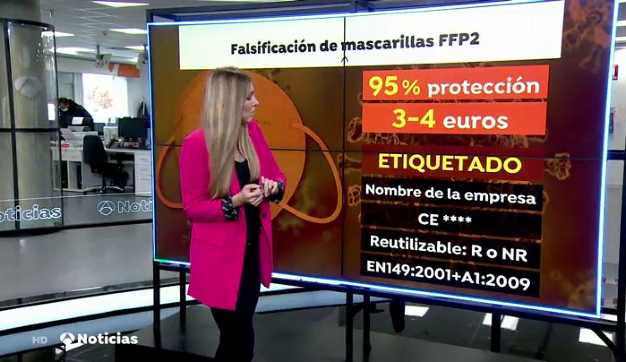 Cómo comprobar que una mascarilla FFP2 contra el coronavirus no es una falsificación